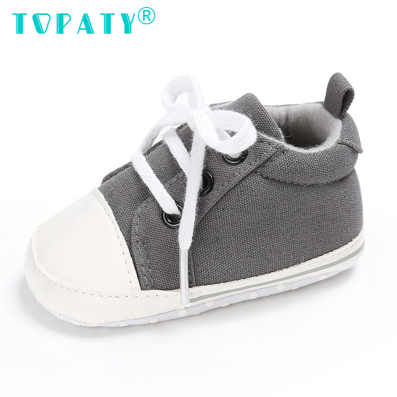 TOPATY 0-18M Baby Boys Girls zasznurować buty Canvas Sapatos De - Buty dziecięce - Zdjęcie 5