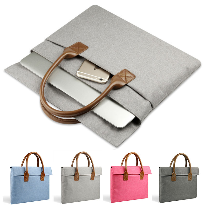 Multi-use Laptop Hand Bag for MacBook 11/12 13.3 15.4 Air/Pro/Retina NoteBook Sleeve 15.6 for Lenovo Asus HP Dell xiaomi Air