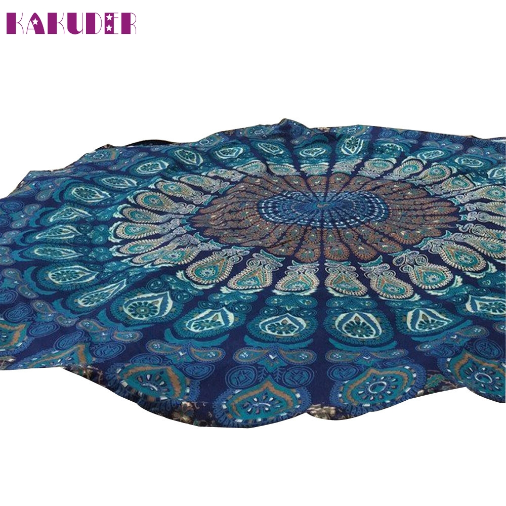 Round Beach Pool Home Shower Towel Blanket Table Cloth Yoga Mat 2017 New Hot Sell 7Spr21