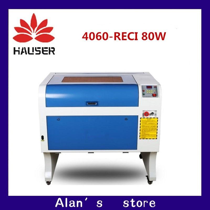 HCZ RECI 80 W 4060 incisione laser co2 CNC laser cutter macchina della marcatura mini laser incisore router di cnc laser testa fai da te
