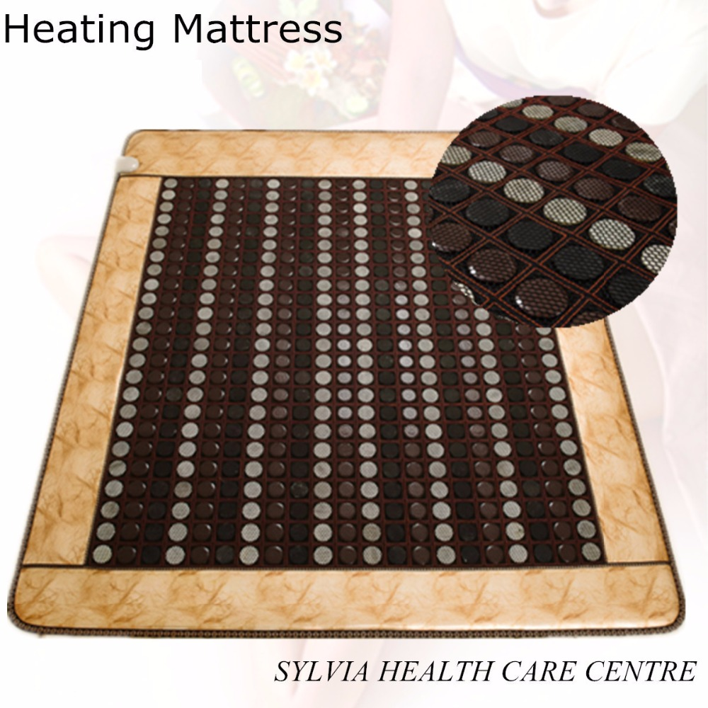 2017 new products infrared leather mattress jade thermal sleeping mat tourmaline health products with Free Gift eye cover