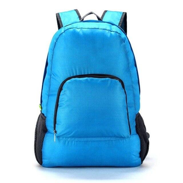 005a22b25 20L plegable hombres mujeres mochila impermeable ligero Color sólido viaje  Camping senderismo Trekking bolsas bolsa de