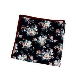 Mantieqingway Fashion Men Pocket Square Handkerchiefs Flower Paisley Dot Square Pocket Towel Casual Pocket for Men Suit Hanky