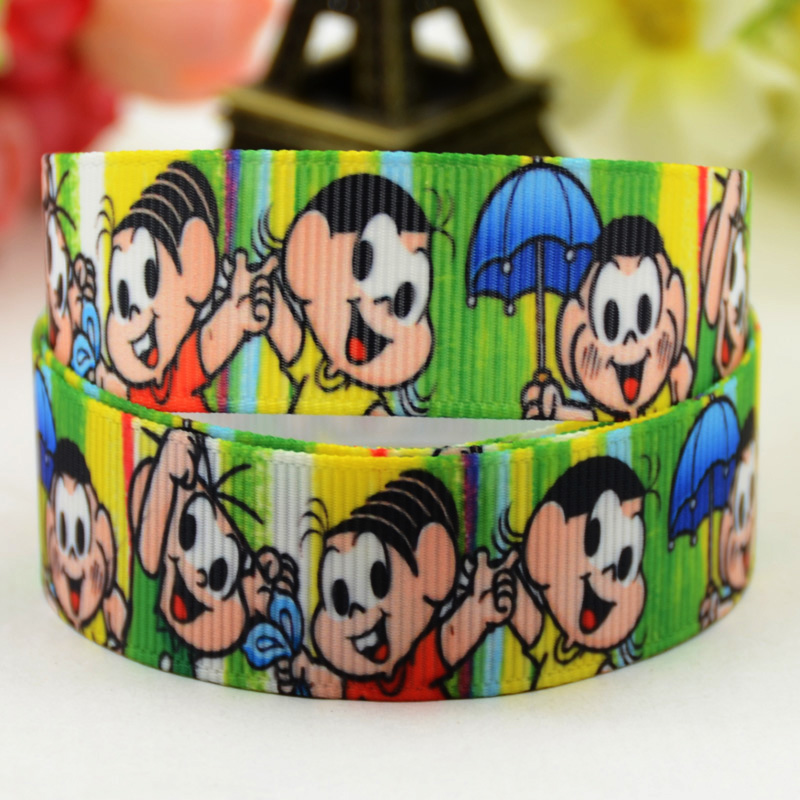 22mm 7/8 Monica Cartoon Character Printed Grosgrain Ribbon Party Decoration Satin Ribbons X-01333 Oem 10 Yards 2019 Latest Style Online Sale 50%