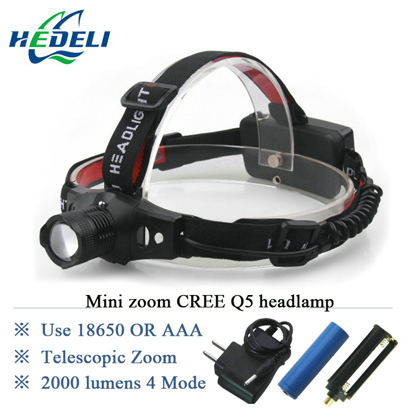 Hot Promotion Light Cree XPE Q5 Headlight Bike Zoomable Miner Lamp Mining Flashlight for Head Torch Headlamp Lantern