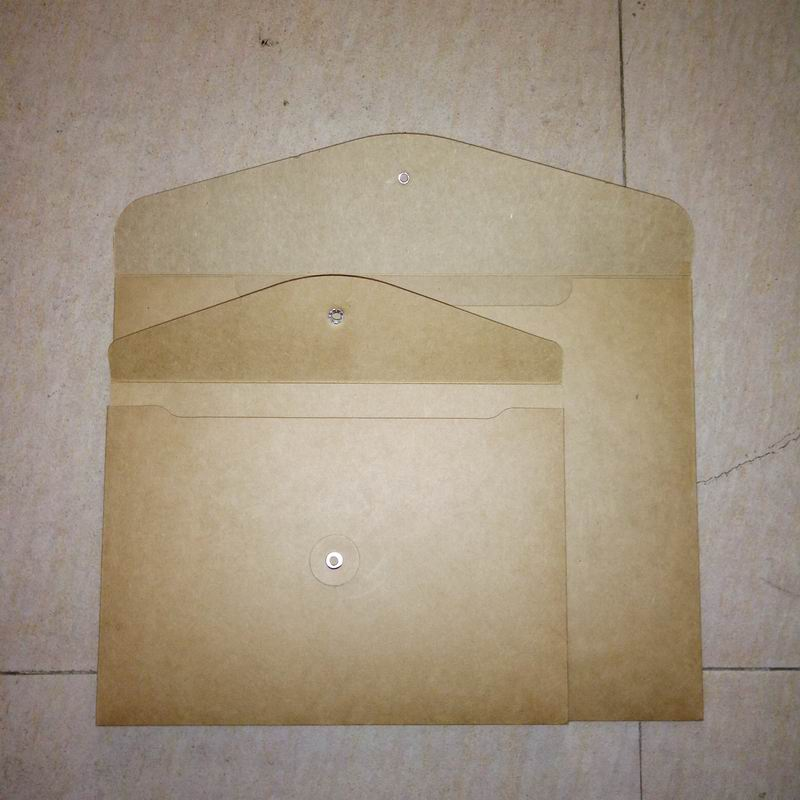 100 pcs blank A4 A5 thick kraft envelope vertical A4 paper documents bags thick kraft file