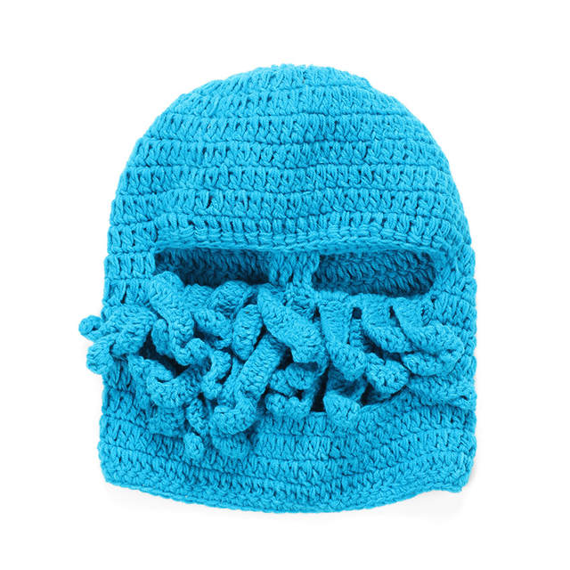 Online Shop Funny Tentacle Octopus Beanie Crochet Knit Beard Hat