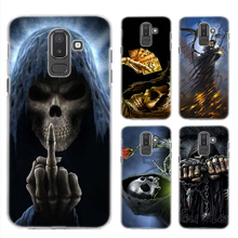 Hard PC Case for Samsung Galaxy A6 A8 Plus A7 2018 J4 J6 J8 Fundas Capa Phone Coque Cover Grim Reaper Skull Skeleton