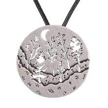 Ожерелье с подвеской в виде леса 4052 аккуратное пирсинг и слоирование