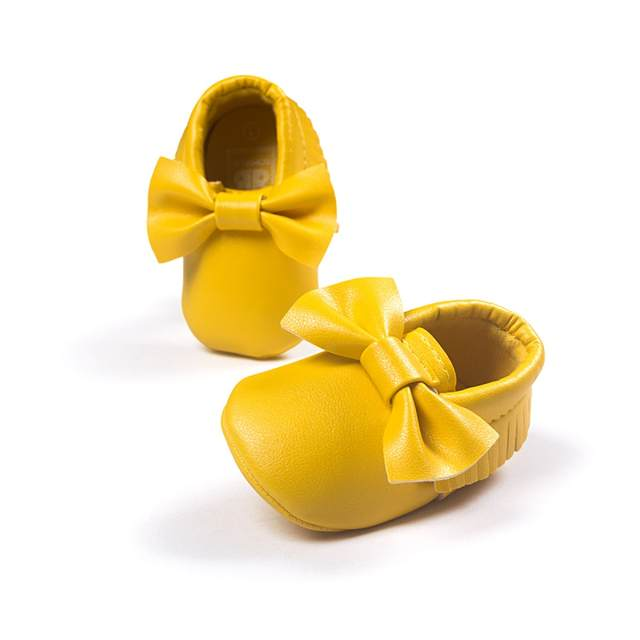 14 Colors Baby Girls Princess Shoes Fringe Soft Moccasin Infant Toddler Girl  Leather Crib Shoes 0 8a0a85690b8b