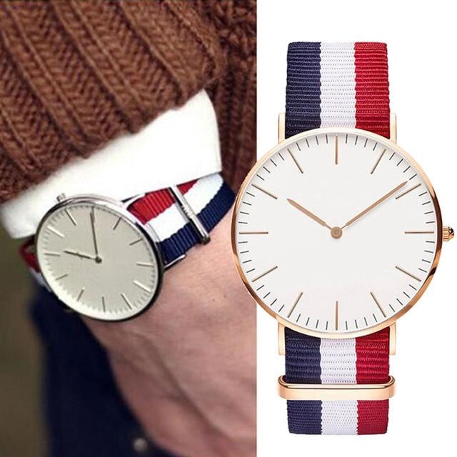 Fashion women wathes classic brand men watch casual nylon style DW watches quart