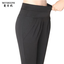 2017 women's fashion pencil pants black leggings female plus size S-4XL skinny high stretch capris women office OL Trousers