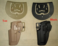 Hight Qiality Tactical Military Combat Paintball Airsoft Hunting Pistol Gun Left Hand Holster With Waist Paddle