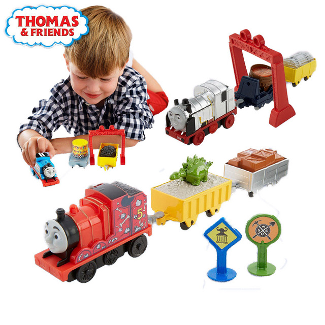 Original Electric Mini Train Set Boy Toy Fun Car Combination James