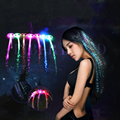 10pcs Rainbow color Led Hair for dance bar Disco KTV party or other occasions Glowing hair braid party decoration Luminous Hair