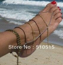 Regalrock Гавайских Ювелирные Изделия Fringe ног цепи рабский браслет