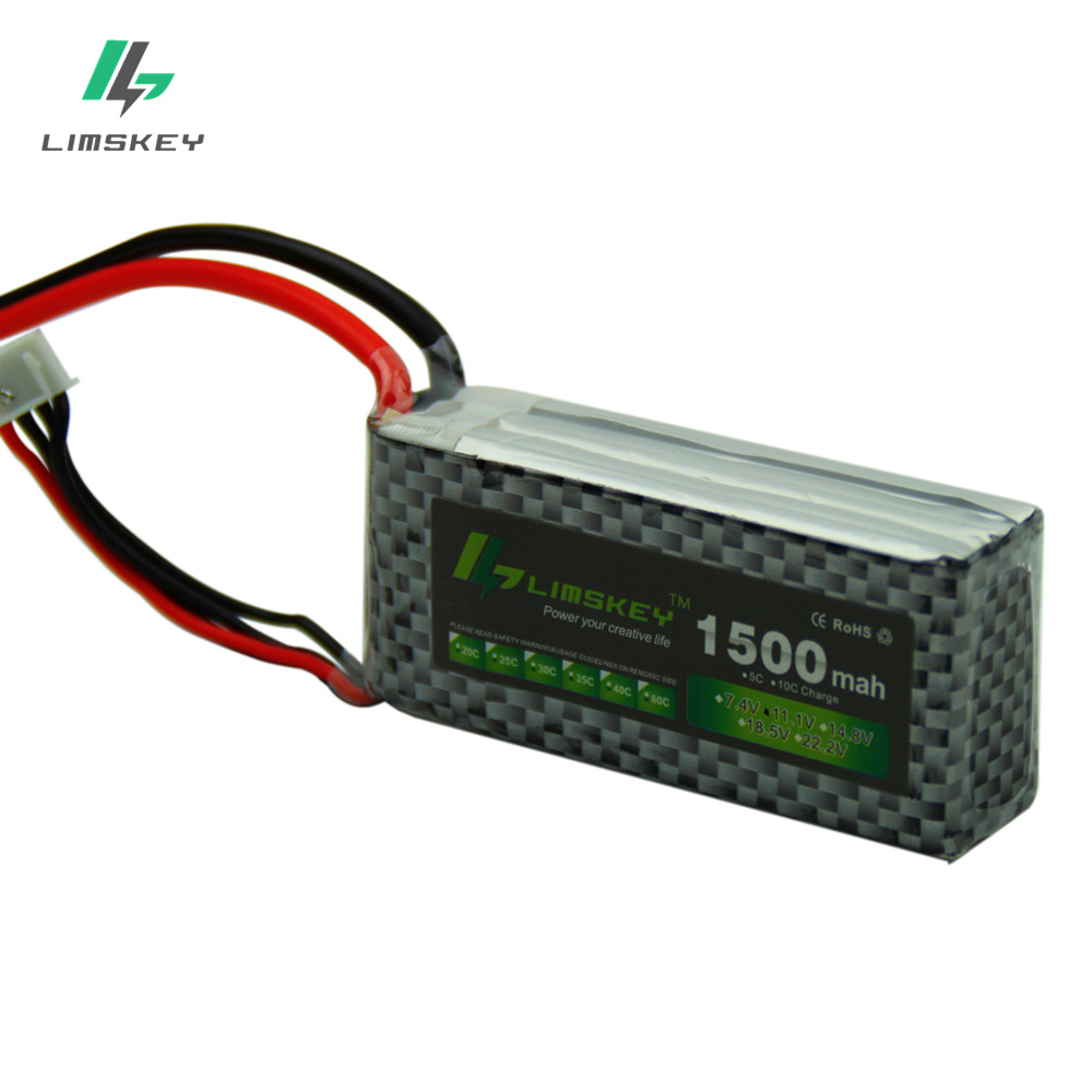 Limskey POWER 3S 11.1V 1500MAH T/XT60 Remote control model aircraft battery manufacturers Lithium Polymer 3S Li-po 11.1V battery model aircraft battery 25c 6s 22 2v 2200mah air plane battery air plane model battery aeromodelling lithium polymer battery
