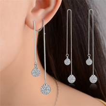 Lemon Value Bijoux Luxury Fashion Crystal Long Earrings Bridal Wedding Rhinestone Drop Earrings Women Jewelry Femme Brincos B053