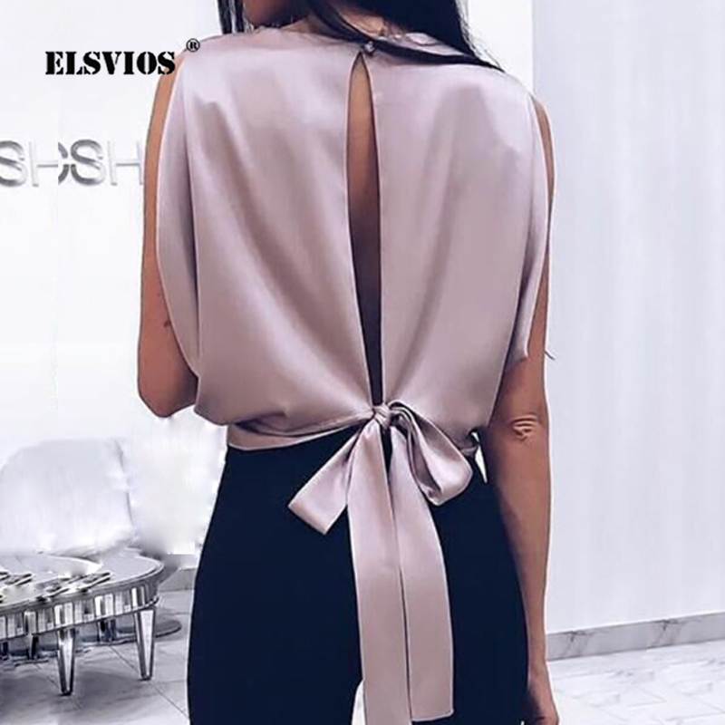 Women's Clothing 2018 Summer Women Chiffon Blouses Casual O Neck Sleeveless Shirt Black Mesh Stitching Shirts Bowknot Blusas Vest