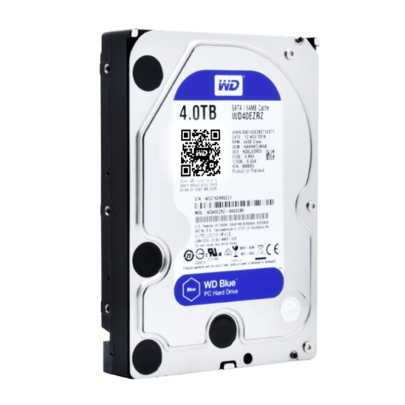 WD HDD Desktop-Hdd Hard-Disk 4TB Internal Blue Dur Sata for PC Digital Disque title=