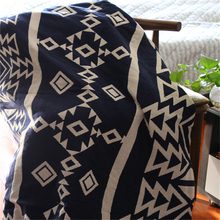 Fanximan Geometry Cotton Blanket Knitted For Sofa Beds Couch Decorative Thread Blanket Plaids Home Decor Tapestry Bed Sheet