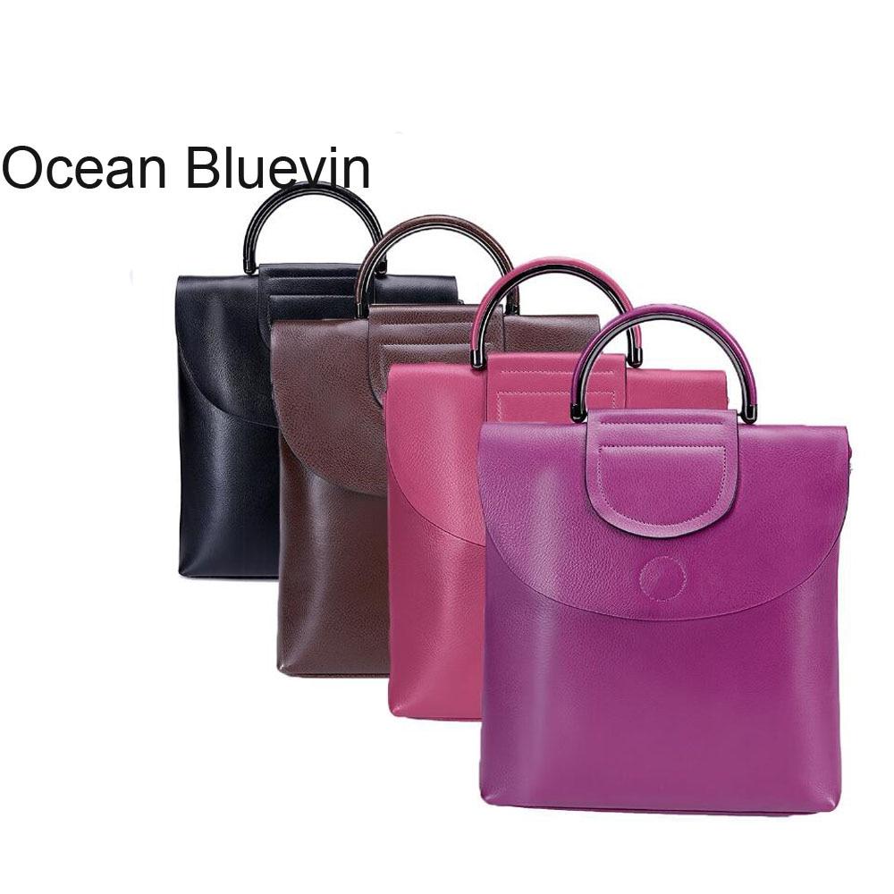 OCEAN BLUEVIN nouvelle Version coréenne en cuir chaud du sac à bandoulière Style dames sac à dos tendance pour femmes sac à dos sauvage