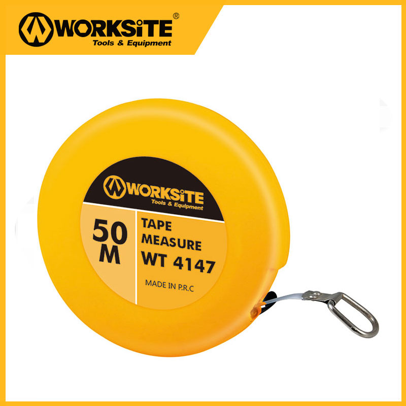Worksitetools WT4147 50 Meter Tape Meaure Double Face Steel Tape Measure Tape Flexible Tape Measure Tapeline Measure Retractable zhenwei retractable tape measure beige white 1 5m
