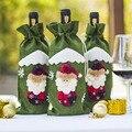 11 видов Рождественская бутылка вина крышка подарок на Новый год сумка держатель Рождественское украшение для вечерние Вечеринка обеденный стол Декор - фото