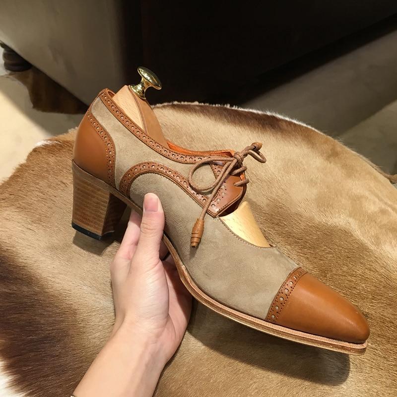 Femmes Feminino Sapato Lacets 5 Out Cm Mujer Cut Kmeioo Zapatos Mocassins À black De Brown Chaussures Femme Awd6WWqBp