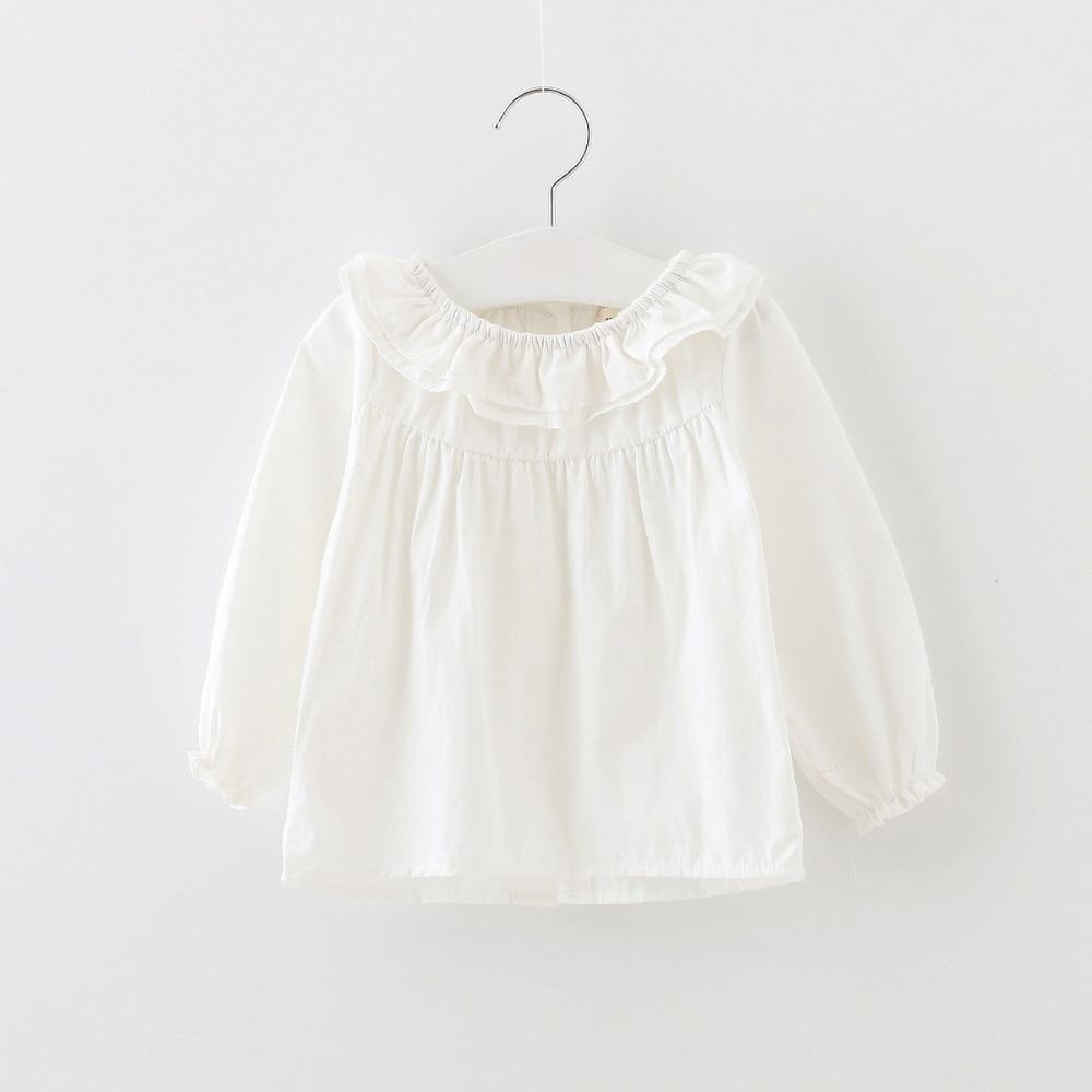 Fashion Children Clothing Kids Basic Shirt Spring Fall Girls Cotton Longsleeve Shirt Baby Girl T-shirt Tops girl shirt clothes
