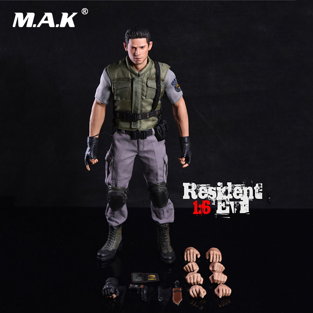 1/6th Resident Evil Policeman Chris Redfield Figure Nude Body with Seamless Arms Collectible Action Figure Model Toys 1 6 scale figure doll plastic model seamless body with metal skeleton female samurai tomoe 12 action figure collectible figure