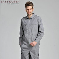 Workshop uniform for men suits long sleeves overalls workshop overall high quality spring summer work clothes DD922 L