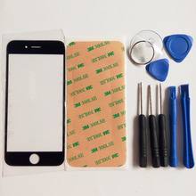 Front Outer Glass Lens  replacement part for iphone 5 5s 5C 6 6S plus 4 4S Top LCD Touchscreen & tools & 3M sticker adhesive
