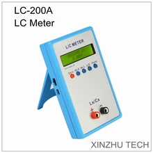 LC-200A Handheld L/C Meter Induktivität Kapazität Meter Digitale Brücke LCR Tisch Gelb LCD Display Induktivität Kapazität Meter