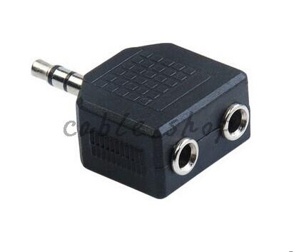 On Sale 3.5MM Mini 1 To 2 Audio Adapter Splitter For Earphone Headset Converting Connector Headset Adapter