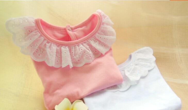 2019 spring girls bottoming shirt children cotton wild Lotus collar T-shirt factory direct  2-7 year 3