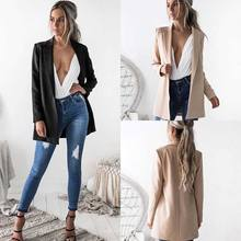 2018 Formal Fashion Newly Women Ladies Autumn Suit Coat Business Blazer Long Sleeve Solid Slim Blazes 2 Style(China)