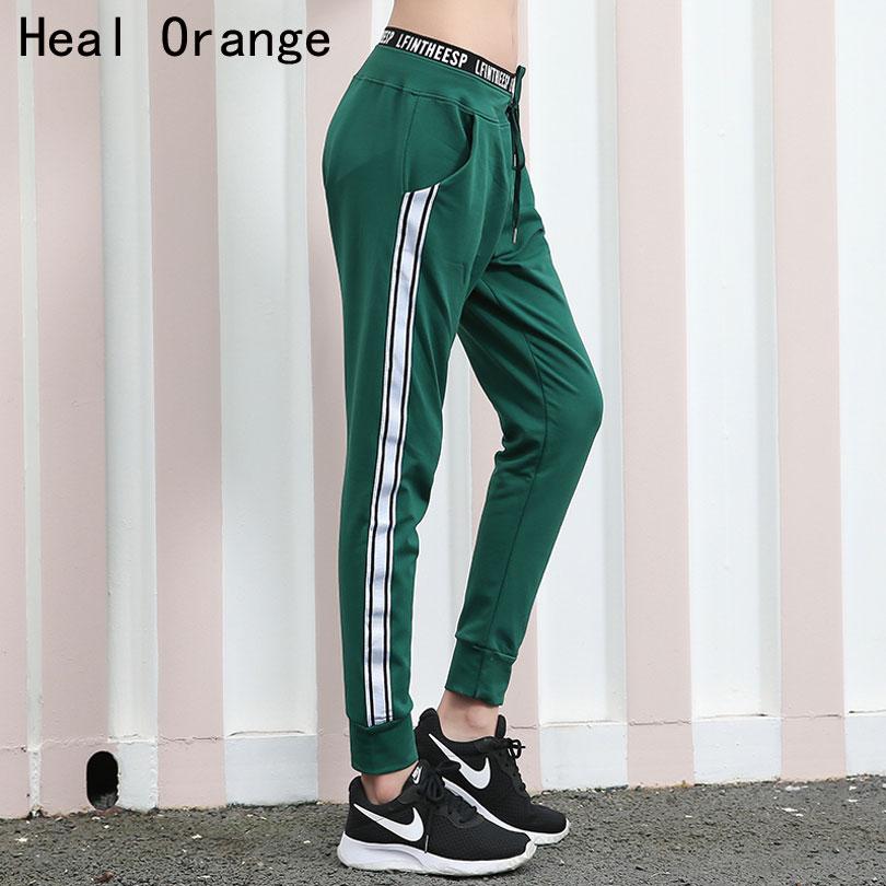 Healorange Высококачественная брендовая одежда в полоску Йога свободные штаны Для женщин быстросохнущая Фитнес спортивные брюки Для женщин бег...