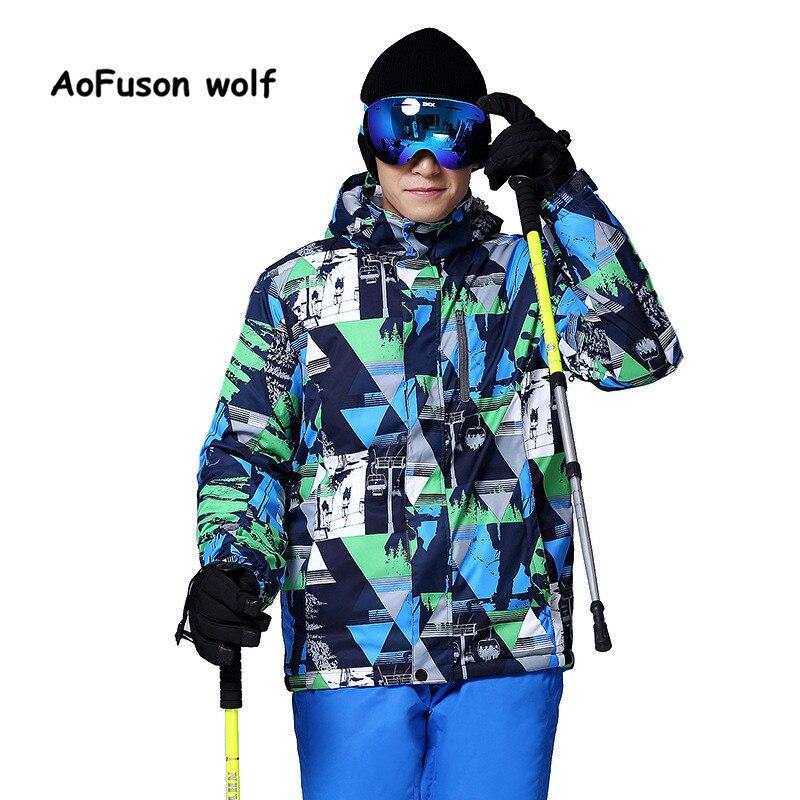 Prix pour 2016 Nouvelle Marque Veste de Ski Hommes Étanche Thermique D'hiver Escalade Neige Veste Manteau Pour Mountain Outdoor Ski Snowboard Vestes