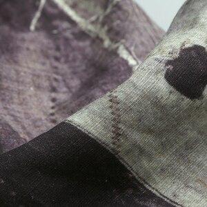 Image 3 - Plus Größe 4XL Tunika Herren hemd Feste leinen Grund Taste Casual Leinen Baumwolle Langarm V ausschnitt shirts männer Sommer 2019 top S850 2