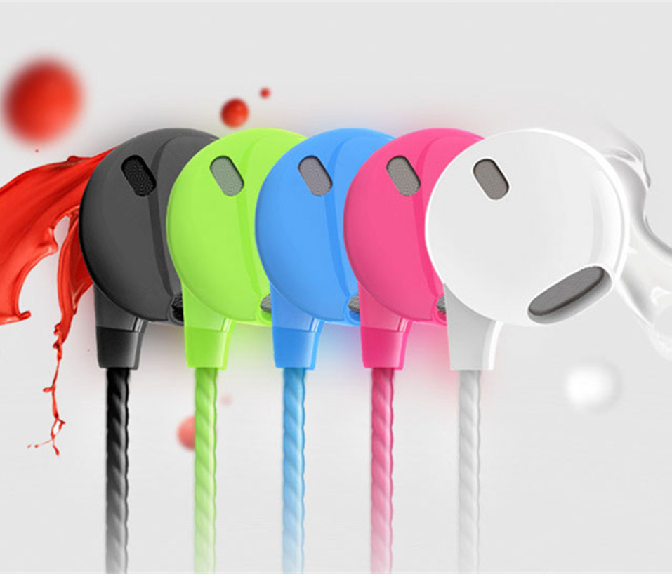 New Sport 3.5mm Colorful Headset With Microphone Super Bass Stereo Running Earphone For iPhone 7 7plus Samsung Music Headsets rock y10 stereo headphone earphone microphone stereo bass wired headset for music computer game with mic