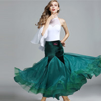 white ballroom dress for women long ballroom dance wear dress standard modern dance costumes spanish flamenco dress waltz dress