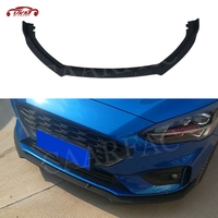 High quality ABS Front Lip Spoiler Trim Cover For Ford Focus Sedan Hatchback 2019+ Black Head Bumper Chin Shovel Guard