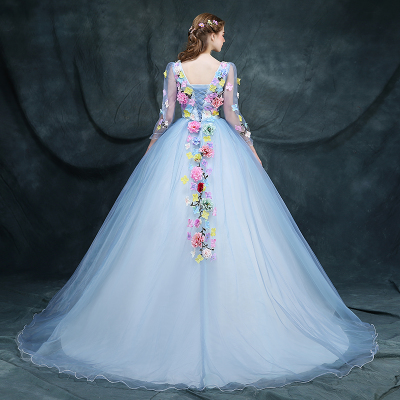 customized Beautiful faery bridesmaid dresses bridal gowns party brief paragraph color wedding dress beautiful darkness