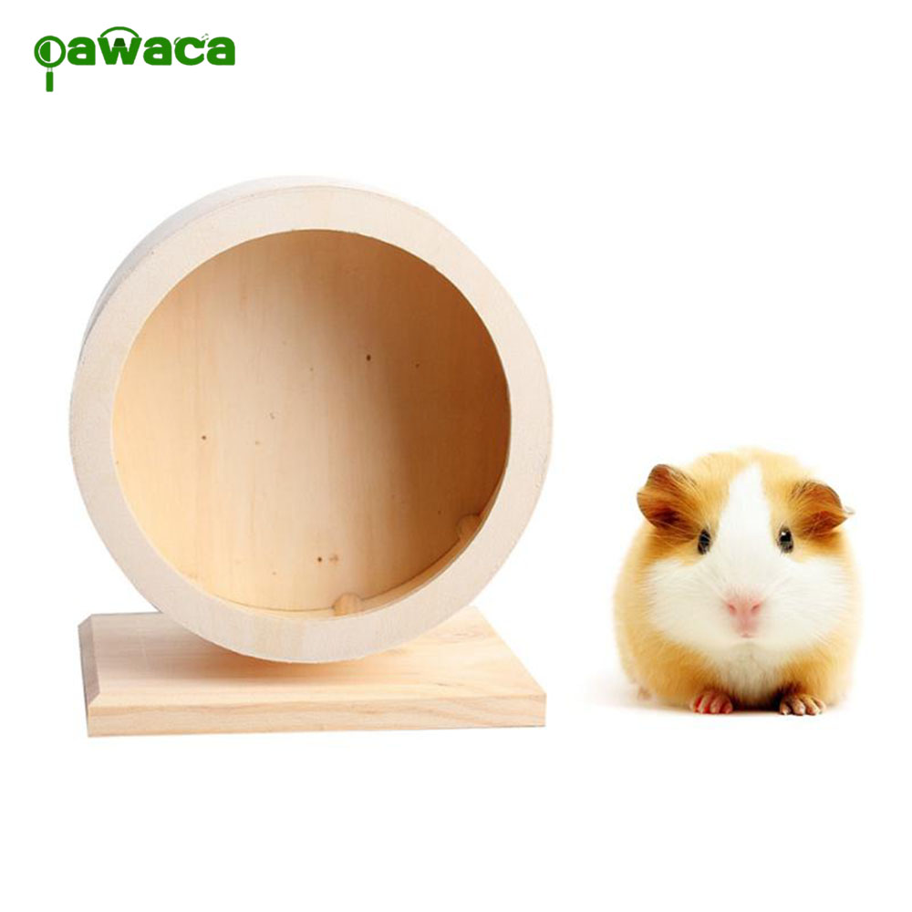 Hamster Exercise Wheel Wooden Exercise Wheel Natural Running Tools For Hamsters Gerbils Chinchillas Little Cute Animals