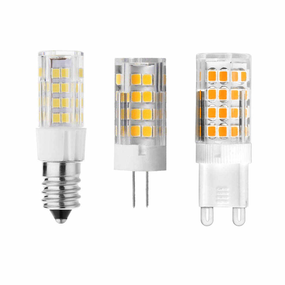 New Super Bright Ceramic Corn Bulb AC220V 110V G9 LED Bulb 7W G4 Lamp E12/E14 51SMD 2835 Bulb Warm Light Cool 360 Beam Angle