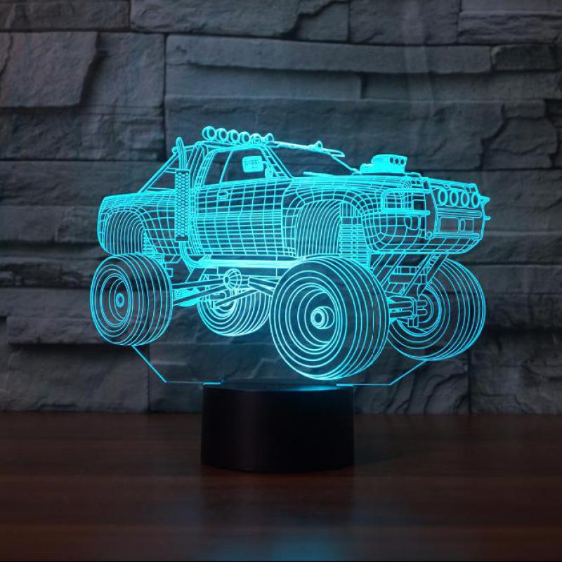 Suv Car 3d Night Light Remote Touch Swithc Led 7 Colors Led 3d Nightlight Baby Sleeping Novelty Luminaria Led 3d Led Lamp
