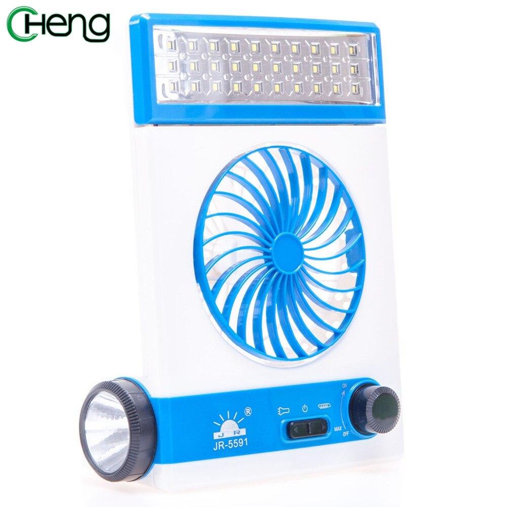 4 in 1 portable exquisite USB mini solar blue fan solar fan super durable energy saving