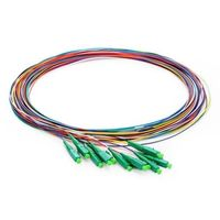 1M (3ft) 12 Fibers LC/APC Single Mode Color Coded Fiber Optic Pigtail