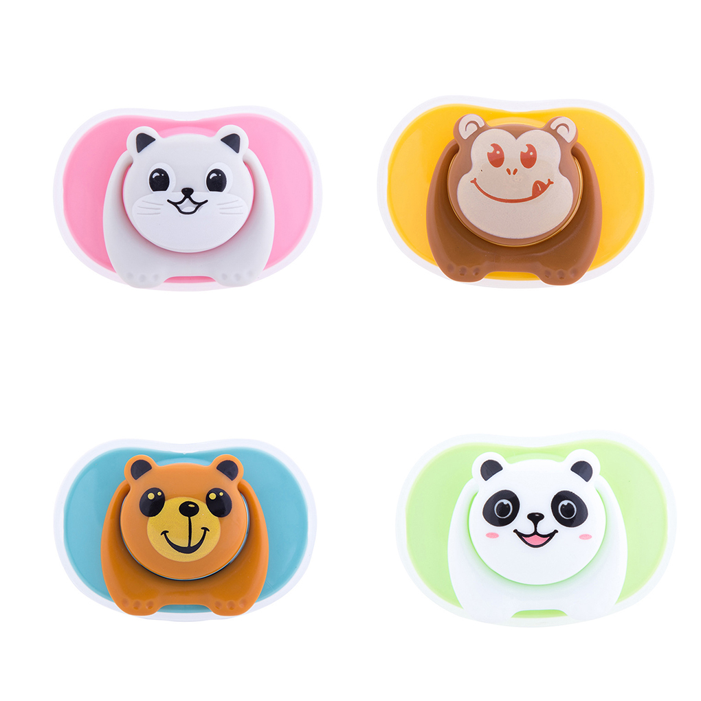 Funny Baby Soother Silicone Pacifier Nipple Cartoon Dummy Oblate Infant Newborn